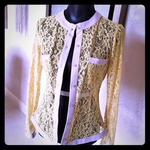 Danhen Jackets & Coats - DANHEN lace jacket, duster, blouse, blazer
